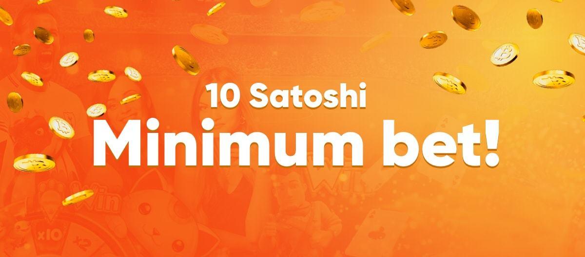Đặt cược với 10 Satoshi
