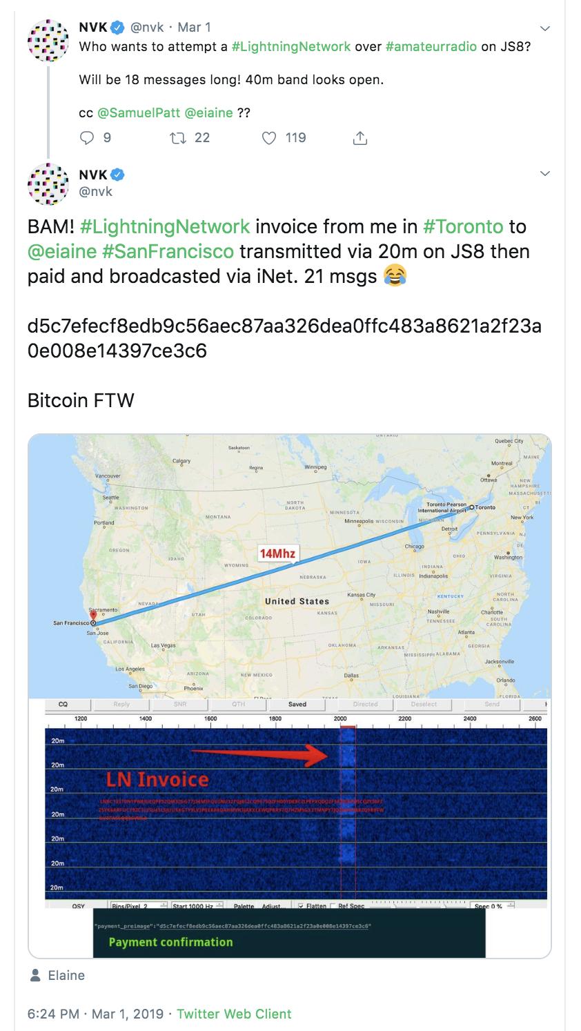 BTC Transaction Twitter Screenshot