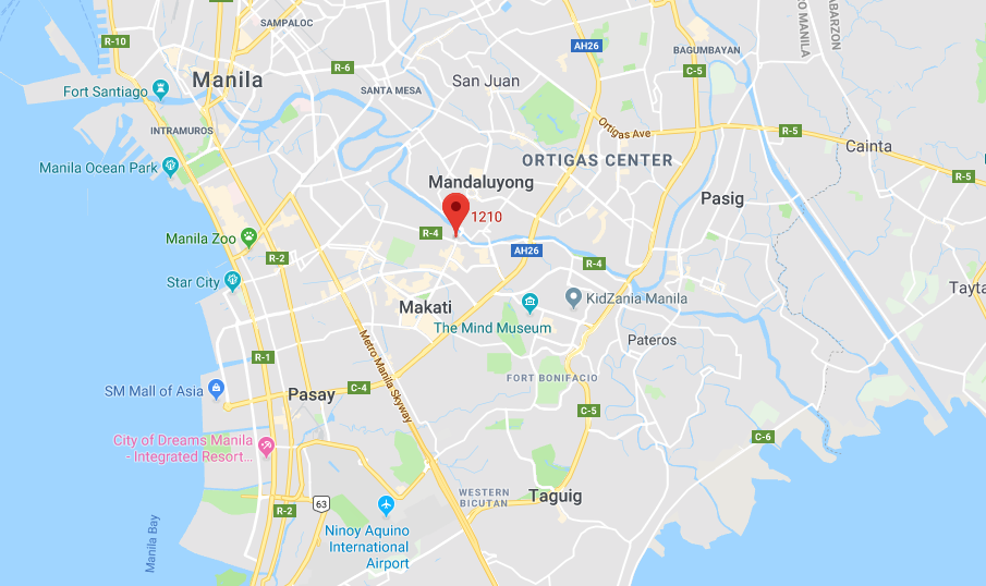 Map of bitcoin ATM in the Philippines