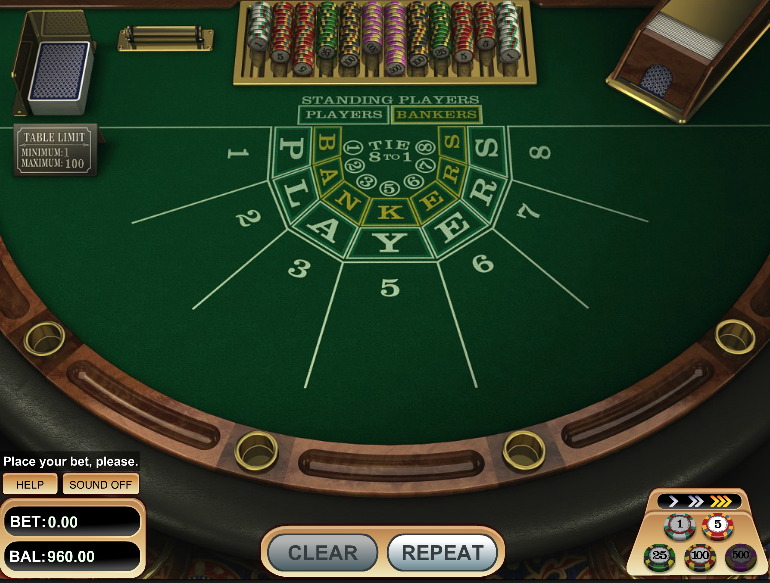 Play Baccarat with bitcoin