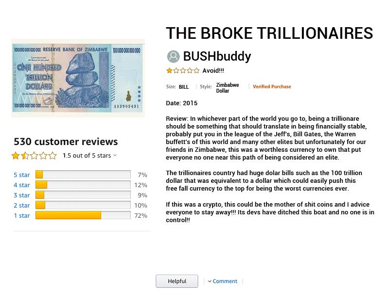 BUSHbuddy reviewing the Zimbabwean Dollar