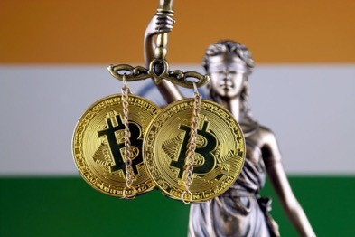 Bitcoins hang on the courts' hands