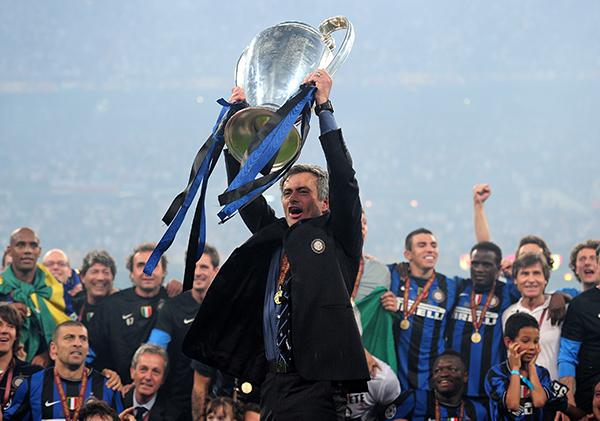 Mourinho lifting the trophy
