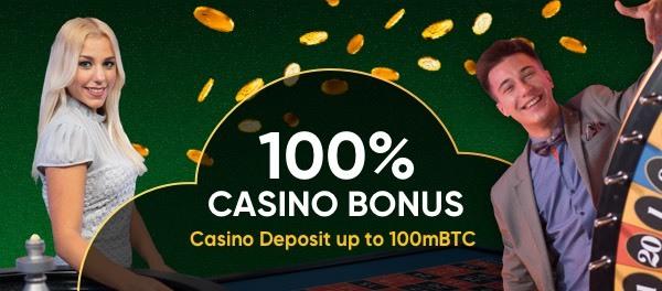 Get a 100mBTC Casino Bonus