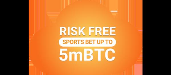 5 mBTC sportsbook risk-free bet